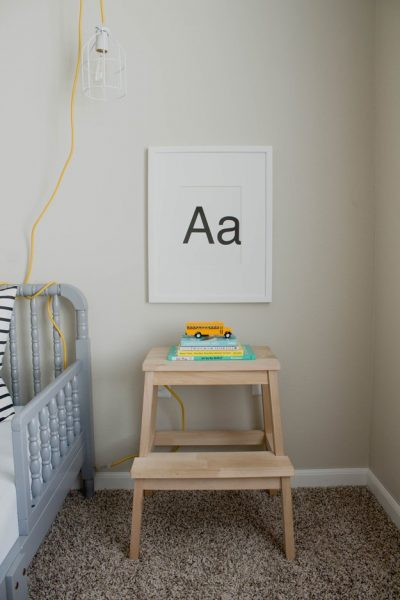 DIY IKEA STOOL NIGHTSTAND