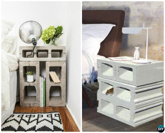 DIY SIMPLE CINDER BLOCK NIGHTSTAND