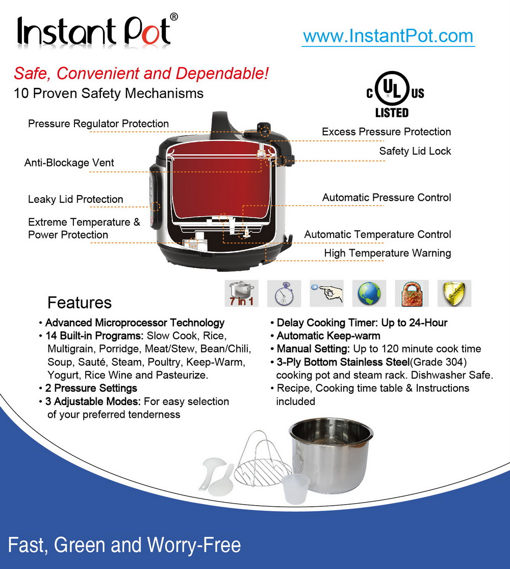 Specifications And Manuals Of Instant Pot Pressure Cooker Bestter