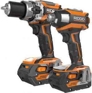 Ridgid 18V Brushless Impact Driver, Hammer Drill