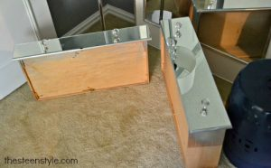 FURNITURE With A Mirrored Nightstand