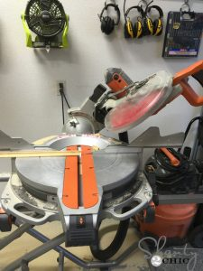Miter adjustment saws - PETITE RUSTIC NIGHTSTAND