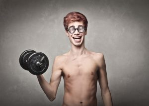 Do not think that a burly guy will not turn into skinny guys are light!