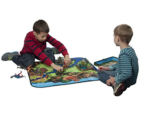 ZipBin 160 Dinosaur Collector Toy Box & Playset