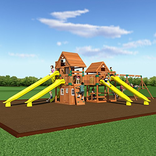 Backyard Odyssey Safari Cedar Swing Set Playhouse