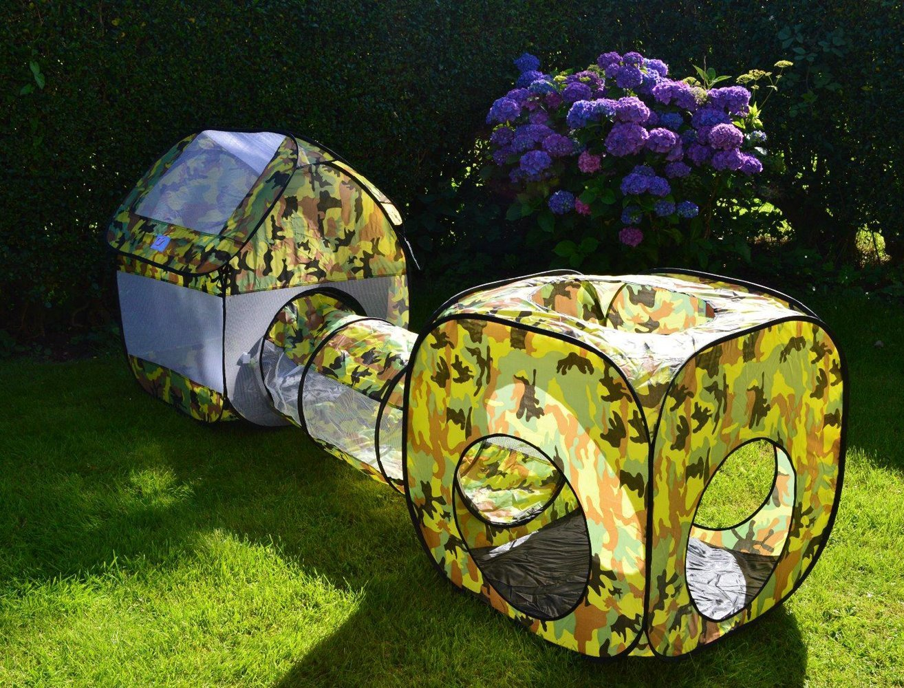 EocuSun Pop Up Kids Play Tent and Tunnel With Ball Camo - Bestter Choices Bestter Living & EocuSun Pop Up Kids Play Tent and Tunnel With Ball Camo - Bestter ...