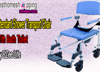 Attendant Shower Transport Chair With Bath Toilet