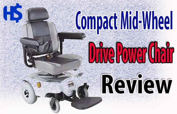 Compact Mid-Wheel Drive Power Chair, Silver