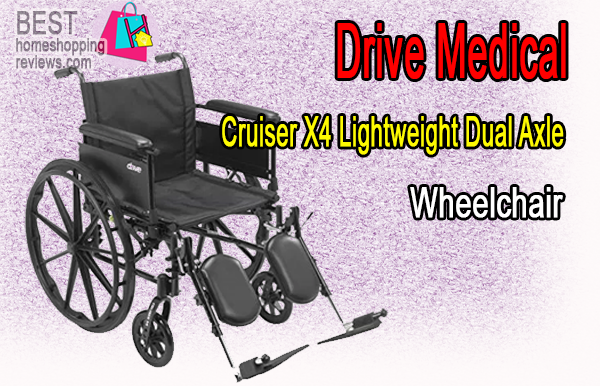 Drive Medical Cruiser X4 Lightweight Dual Axle Wheelchair
