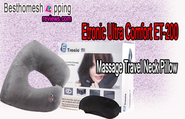 Etronic Ultra Comfort Massage Travel Neck Pillow ET-200