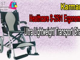 Karman Healthcare S-2501 Ergonomic Ultra Lightweight Transport Chair