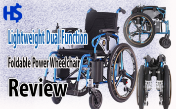 Lightweight Dual Function Foldable Power Wheelchair