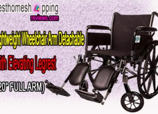Lightweight Wheelchair Arm Detachable with Elevating Legrest