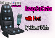 Massage Seat Cushion with Heat By Relaxzen 10-Motor
