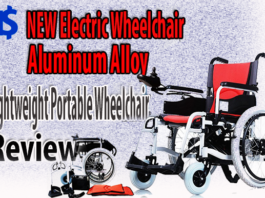 NEW Electric Wheelchair Aluminum Alloy Lightweight Portable Wheelchair Review