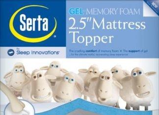 2.5″ Lucid by LinenSpa Gel Infused Memory Foam Mattress Topper