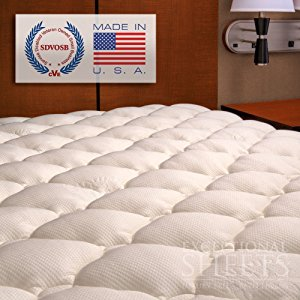 Extra Plush Bamboo Fitted Mattress Topper Affordable