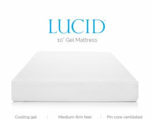 LUCID 10 Inch Gel Memory Foam Mattress Review