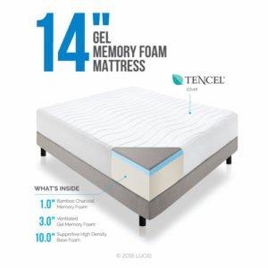 14″ LUCID Plush Memory Foam Mattress Review
