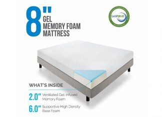 LUCID 8-inch Memory Foam Mattress Review