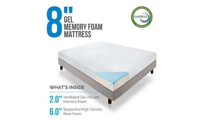LUCID 8-inch Memory Foam Mattress Review