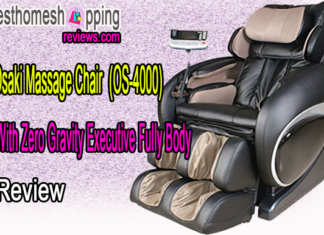 Osaki Massage Chair With Zero Gravity Executive Fully Body, OS-4000