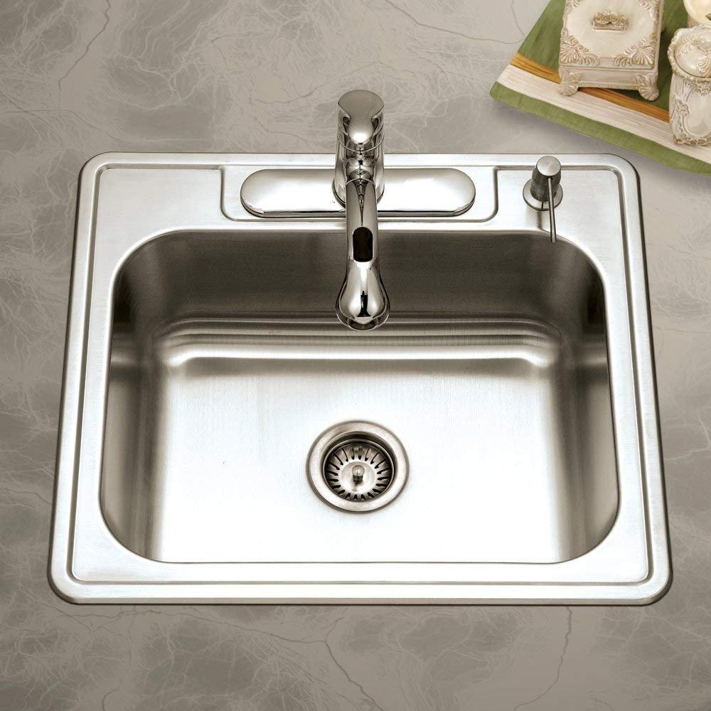 best single bowl kitchen sink by Houzer 2522-8BS4-1